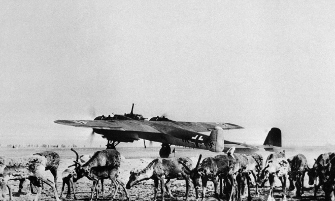 German bomber with reindeer