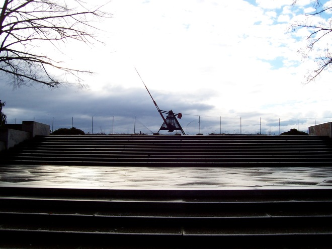 Metronome and plinth of Stalin statue